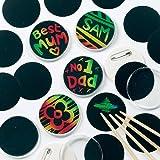 Sgraffito Buttons für Kinder zum individuellen Gestalten (10 Stück)