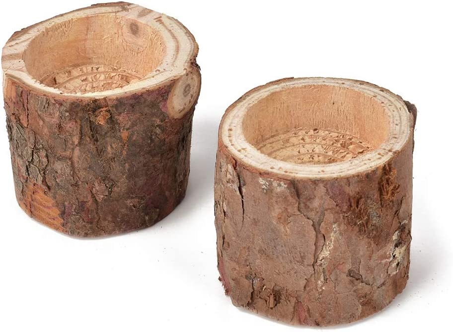 Hagao Tea Light Candle Holders, Personalized Wooden Candle Holder for Rustic Wedding Party Birthday Holiday Set of 2 (2