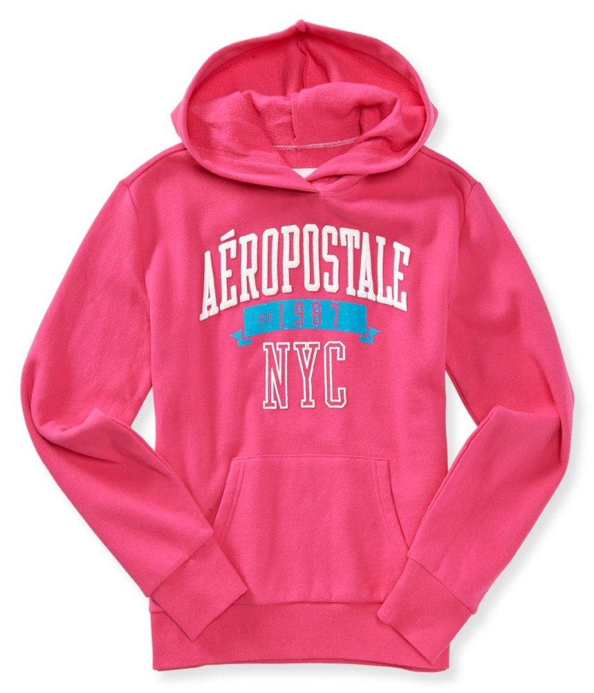 Aeropostale Womens Glitter Logo Hoodie Sweatshirt 662 M