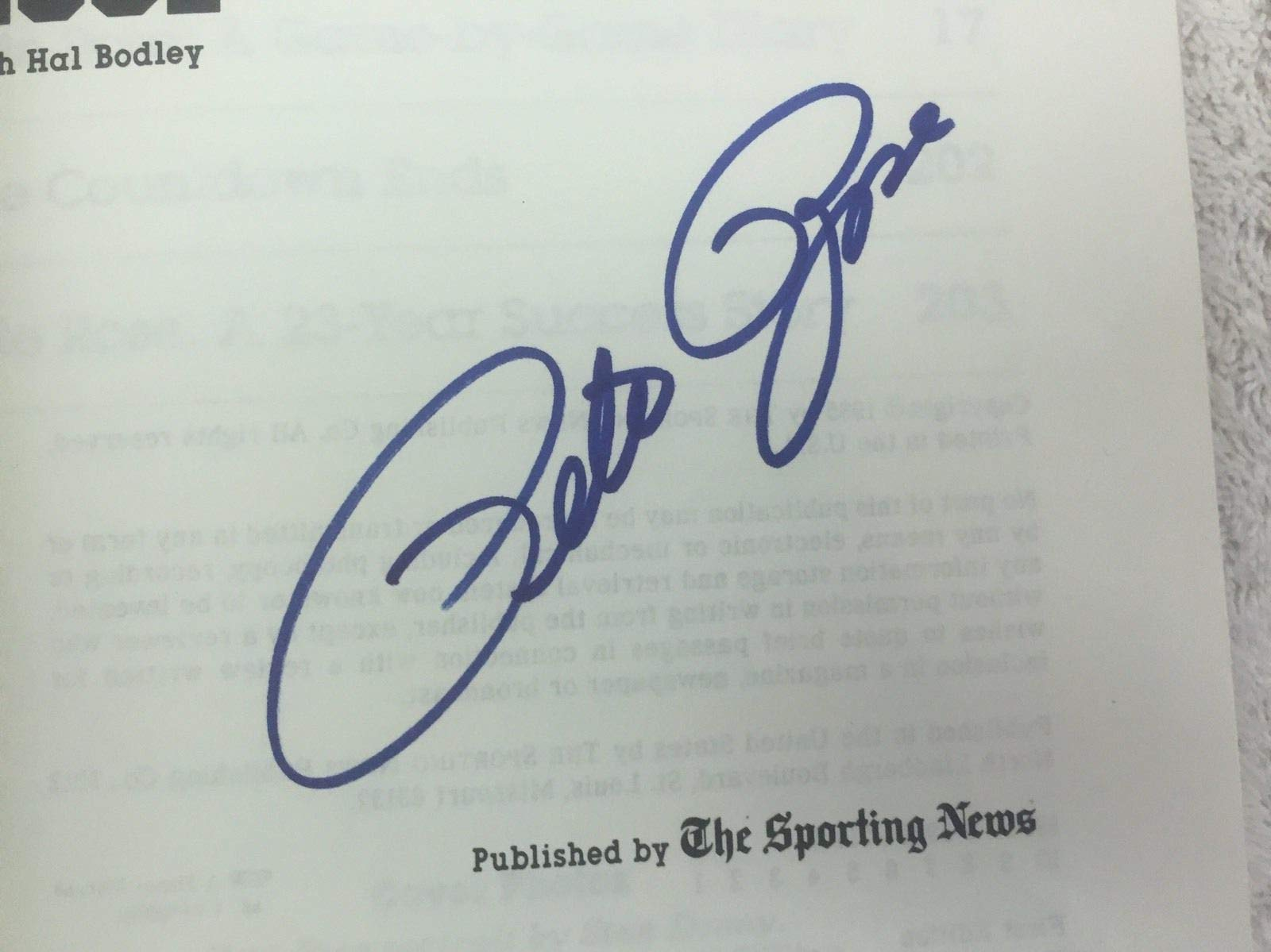 Pete Rose Cincinnati Reds Countdown To Cobb Autographed Signed Book JSA Authentic First Edition