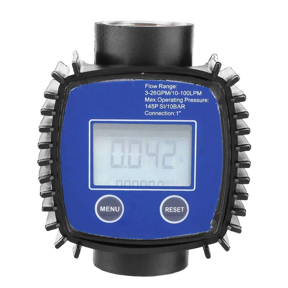 1″ Digital Flow Meter,Multipurpose High Accuracy Water Diesel Flowmeter,Flow Meter for Garden Hose,for Diesel, Gasoline, Urea, Chemical Liquid, Water, Oil and Other Media