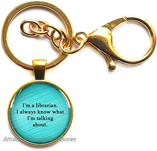 Book Worm Librarian Quote,QK077 Book Quote Locket Necklace I am a Librarian Locket Pendant Book Lover Gift Book Addict