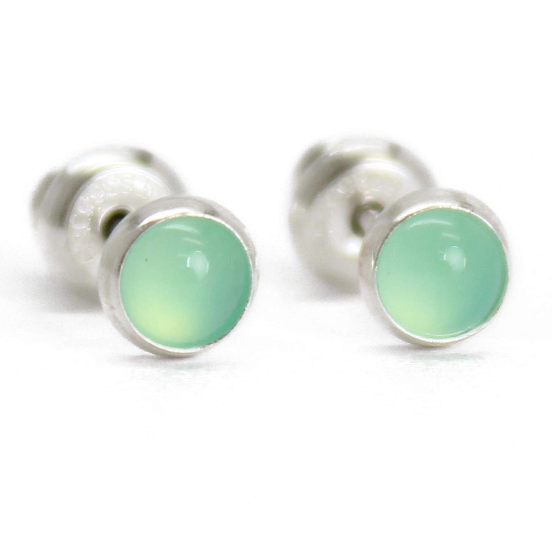 Chrysoprase Silver Wrapped  Earrings
