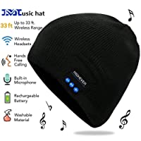 HIGHEVER Bluetooth Beanie, Wireless Bluetooth Hat Fits for Sports, Gifts