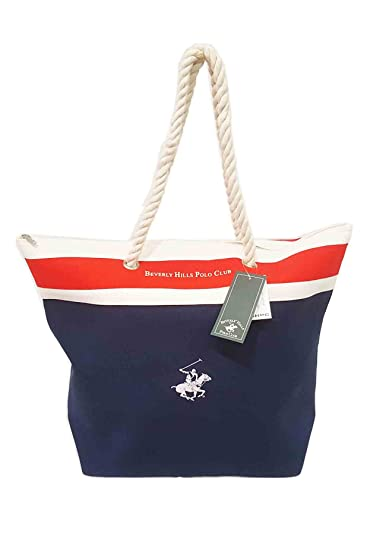 Beverly Hills Polo Club - Bolsa de playa de algodón Mujer azul ...