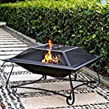 Hamilton 30″ Square Steel Fire Pit For Sale