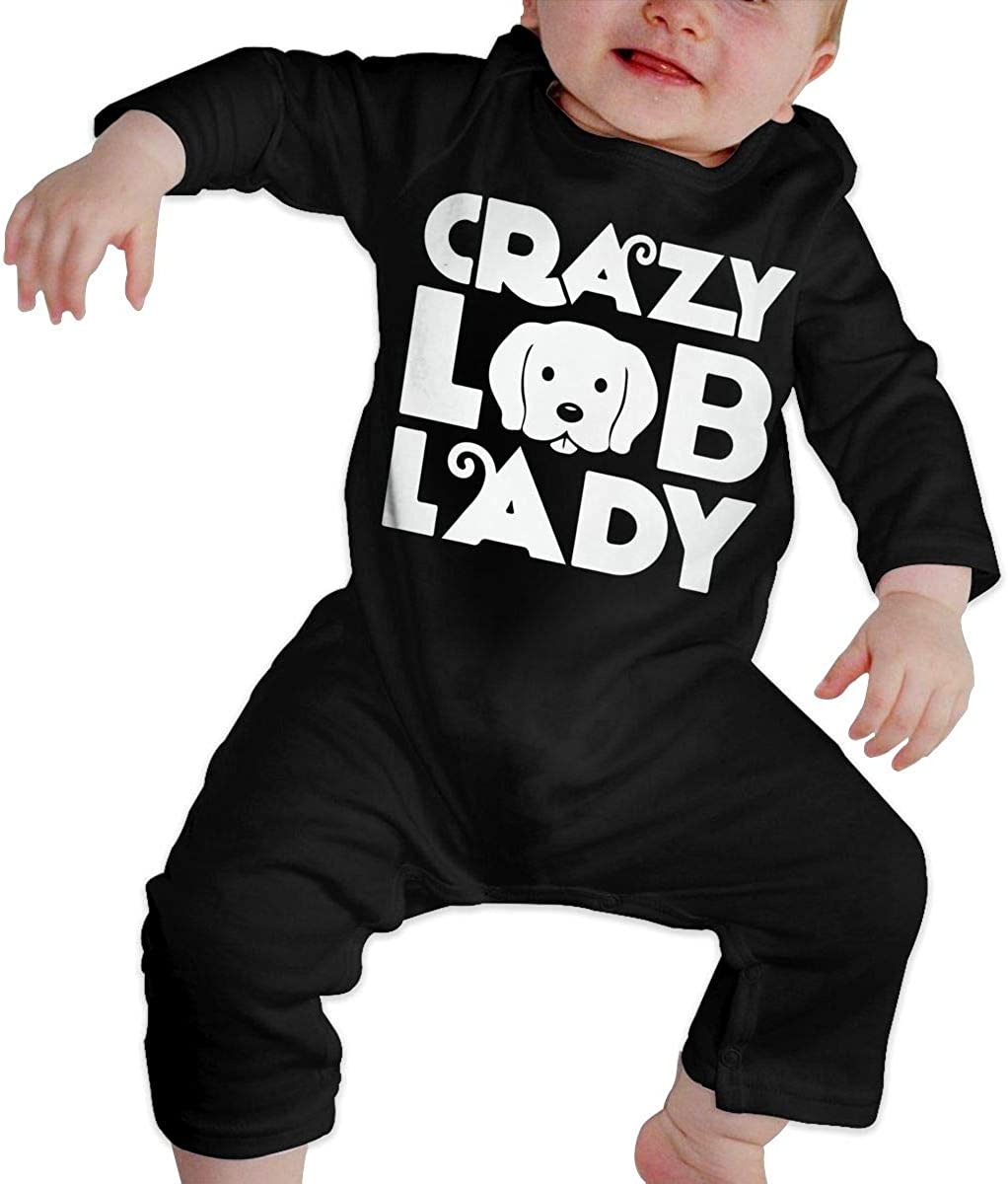 BKNGDG8Q Baby Boys Romper Jumpsuit Crazy Lab Lady Organic One-Piece Bodysuits Coverall Outfits