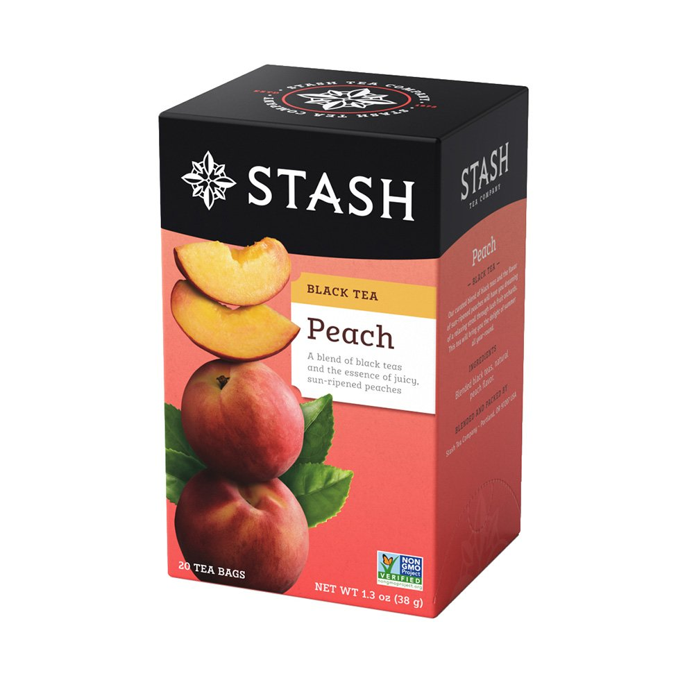 Stash Tea Peach Black Tea, 20 Count