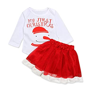 528c3bd40 Infant Baby Toddler Girls Clothes Sets 3-24 Months Snowman Christmas Xmas  Long Sleeve Romper