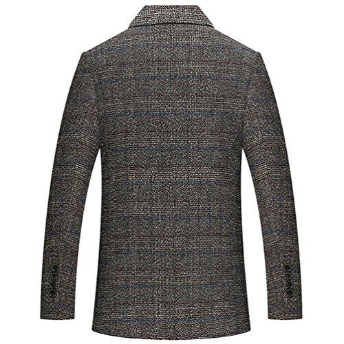 Giacca Elegante Lana Outwear Yilianda Fit Affari Giacche Blazer Vestito Di Marrone Jacket Cappotto Slim 7Pwqtpvw