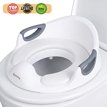 Toilet Trainer Seats for Toddlers Boys /&Girls with Cushion Handle Training Seat