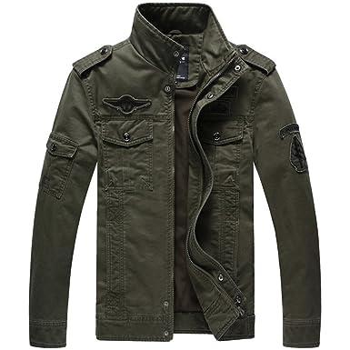 Military Style Army Jackets Coats Chaqueta Hombre Veste Cazadoras Hombre. Army Green M