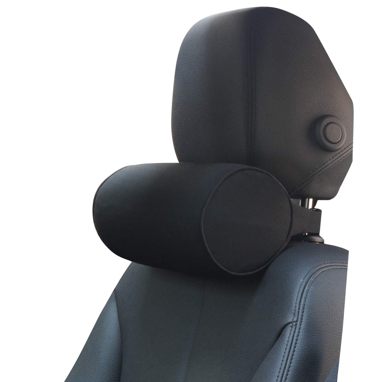 Dreamer Car Neck Pillow for Car//High Density Memory Foam Car Neck Support Roll Neck Pillow for Neck Fatigue Relief Black