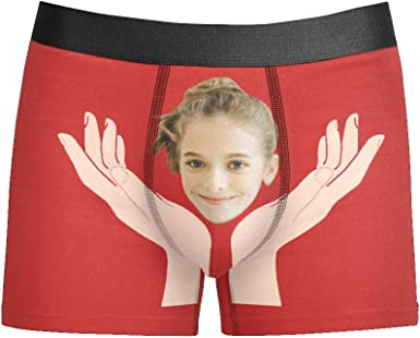 Personalized Funny Face You Are My Sunshine customize birthday boxers Shorts Briefs Underpants for men with pictures