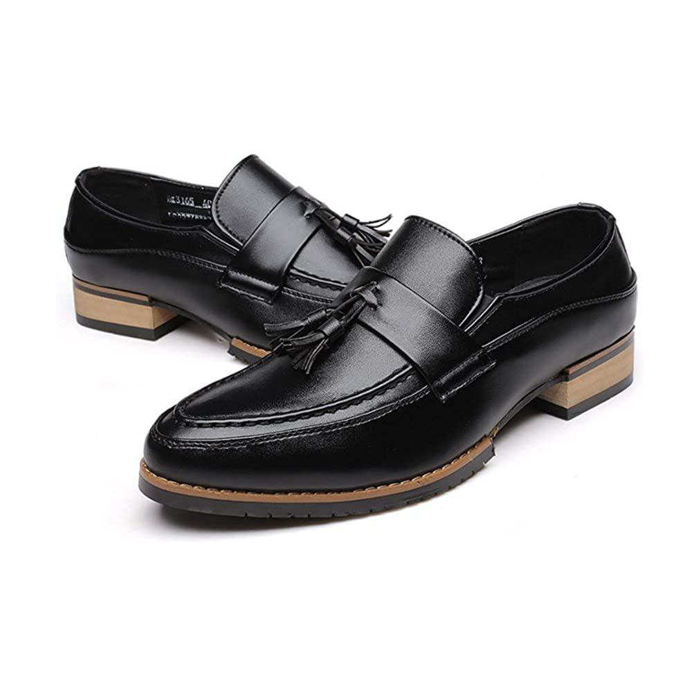 DFUCF Mens Bullock Carved Mens Shoes Retro Tassels Business Casual Shoes