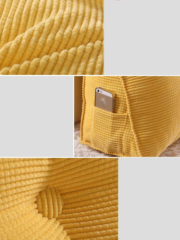 Candy Color Bedside Triangle Cushions Detachable Bedside Big Backrest ( Color : 6 , Size : 1002550cm )