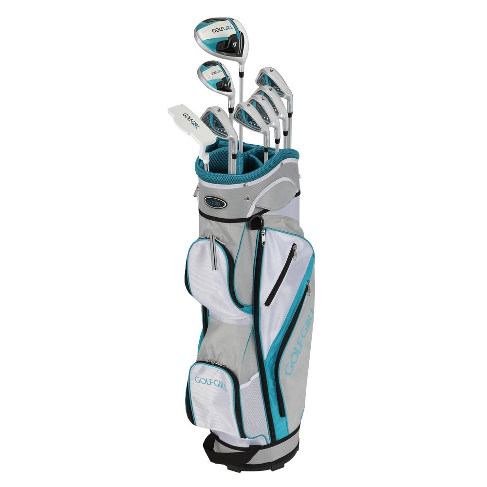GolfGirl FWS3 Ladies Teal Complete All Graphite Right Hand Golf Clubs Set with Cart Bag