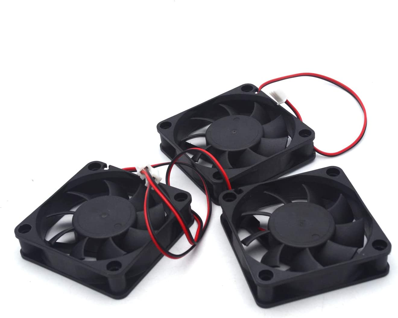 Antrader 3-Pack 60mm x 60mm x 15mm 6015 12V Brushless DC Cooling Fan 2pin for DIY 3D Printer Extruder Humidifier