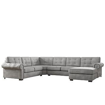 Mirjan24 Ecksofa Chesterfield Maxi Freistehendes Polsterecke Couch
