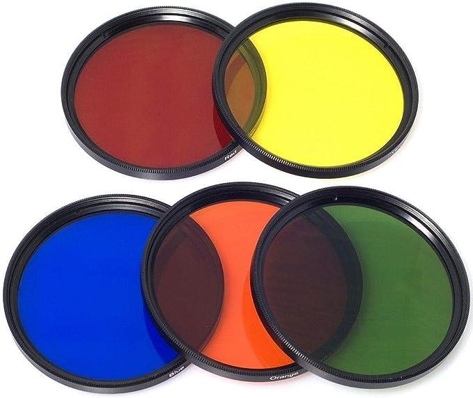 Lens Cap 6/Slot Case LF68 52/mm Colour Filter Blue Yellow Orange Red Green