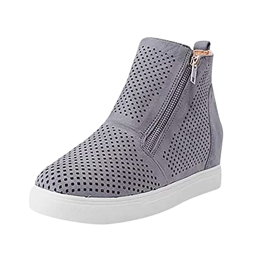 5de1a842e556c Amazon.com: Londony✓ Women's Platform Sneakers Hidden Wedges Side ...