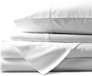 Mayfair Linen Hotel Collection 100% Egyptian Cotton - 500 Thread Count 4 Piece Sheet Set- Color White,Size King