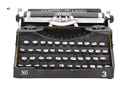 Global European Style Iron Material Classic Vintage Typewriter