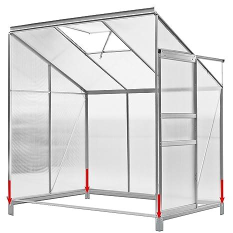 Invernadero auxiliar de 3,65m³, aluminio, base de acero,