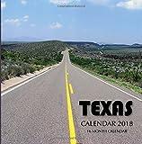 Texas Calendar 2018: 16 Month Calendar