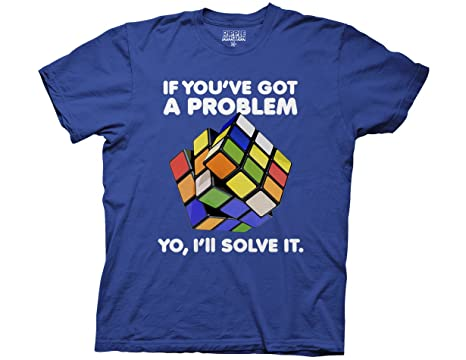 Amazon.com: Ripple Junction Rubiks Cube Yo I'll Solve It Adult T ...