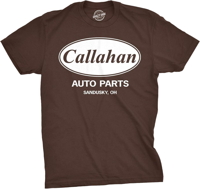 Mens Callahan Auto T Shirt Funny Shirts Cool Humor Graphic Saying Sarcasm Tee
