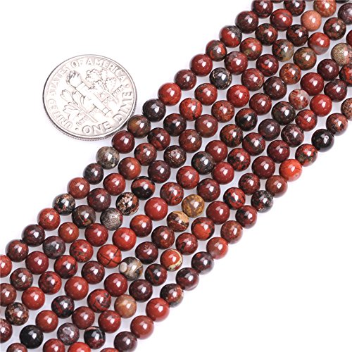 Poppy Flower Jasper Beads for Jewelry Making Natural Gemstone Semi Precious 4mm Dark Red Round 15