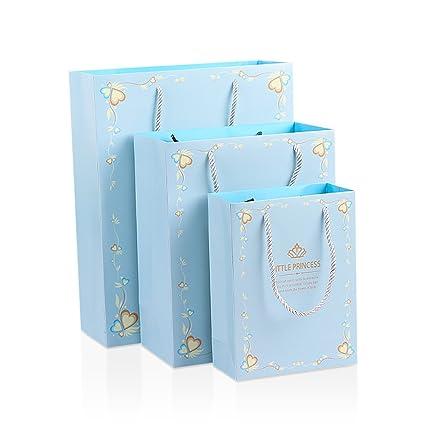 Juego de 12 bolsas de papel kraft con asa para boda ...