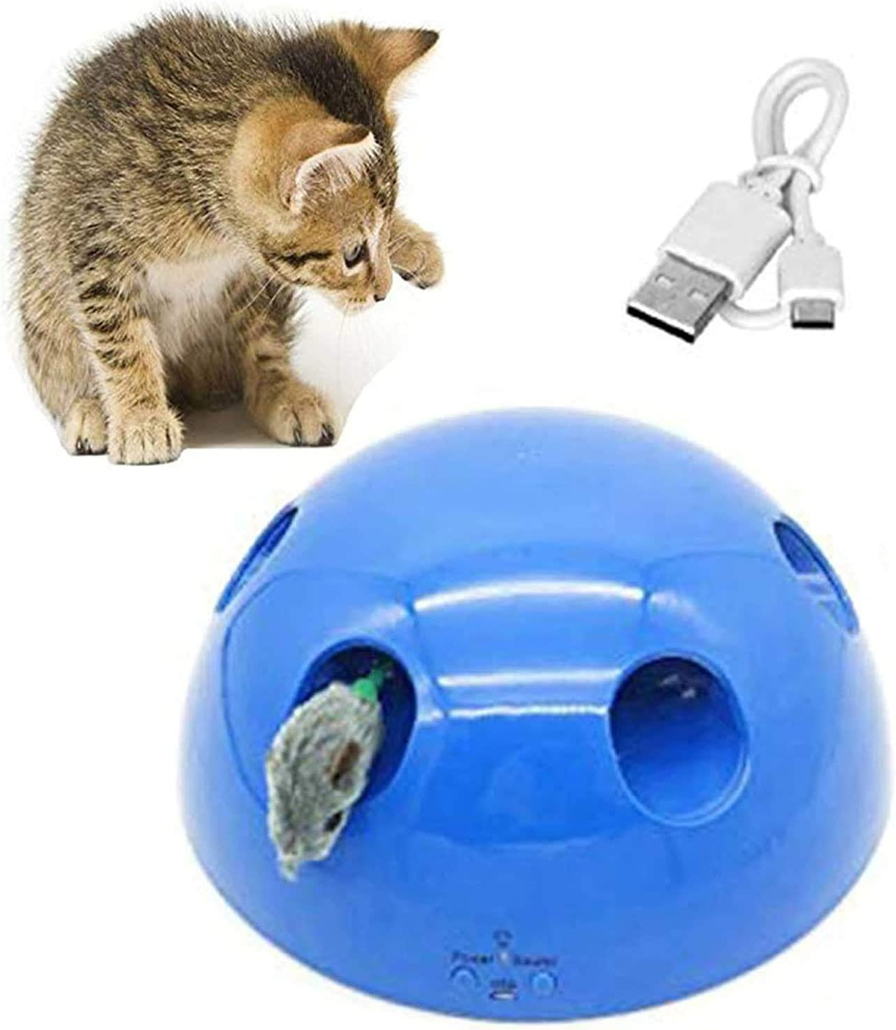 Swvzwy Pop And Play Cat Toy Cat Toys For Indoor Cats Interactive Presents For Cats Usb Blue Amazon Co Uk Pet Supplies