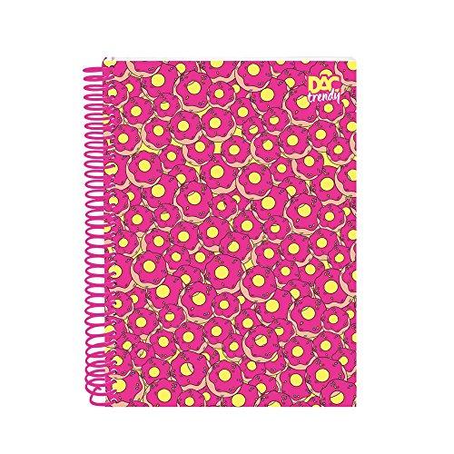 Caderno Universitário 15 Matérias Dac Trendy Donuts Dac - 2378