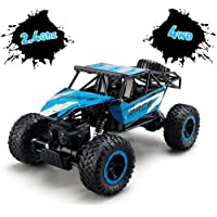 TOYEN Remote Control, RC Rock Off-Road Vehicle 2.4Ghz 4WD Fast Speed Racing Cars for Indoor/Outdoor, Blue