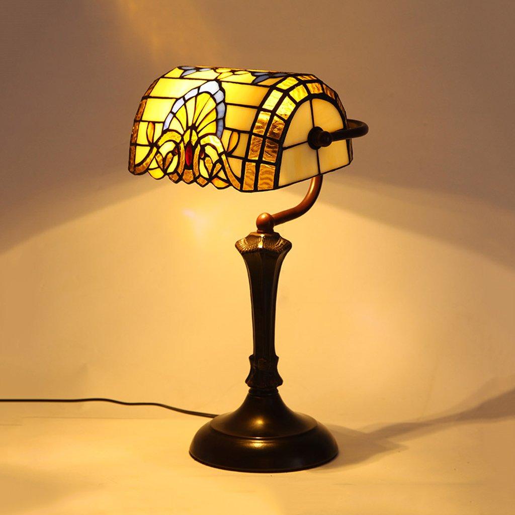 Lampada da tavolo Barocco Europa e gli Stati Uniti lampada da tavolo in vetro da camera da letto lampada da letto retrò da studio