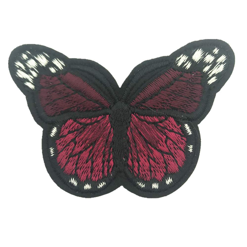 12pcs Butterfly Patches Clothing Iron On Embroidered Appliques DIY Apparel Decoration Patches Clothing Fabric Badges 2.75x1.7 Inch