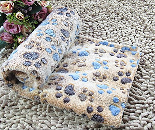 CoCocina Warm Dog Cat Blankets Pet Sleep Mat Pad Bed Cover Soft Coral Velvet Blanket for Kitties Puppies and Other Small Animals-Coffee-L