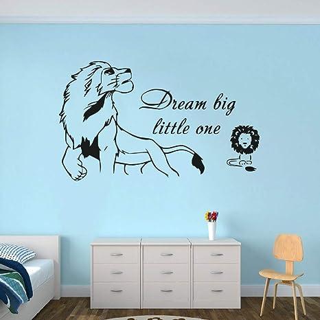 Soñar en grande pequeña cita wall sticker rey leon Simba bebé Wall Decal mural vinilo sala