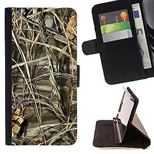 BullDog Case - FOR/HTC One M7 / - / Nature Beautiful Forrest Green 192 /- Monedero de cuero de la PU Llevar cubierta de la caja con el ID Credit Card Slots Flip funda de cuer