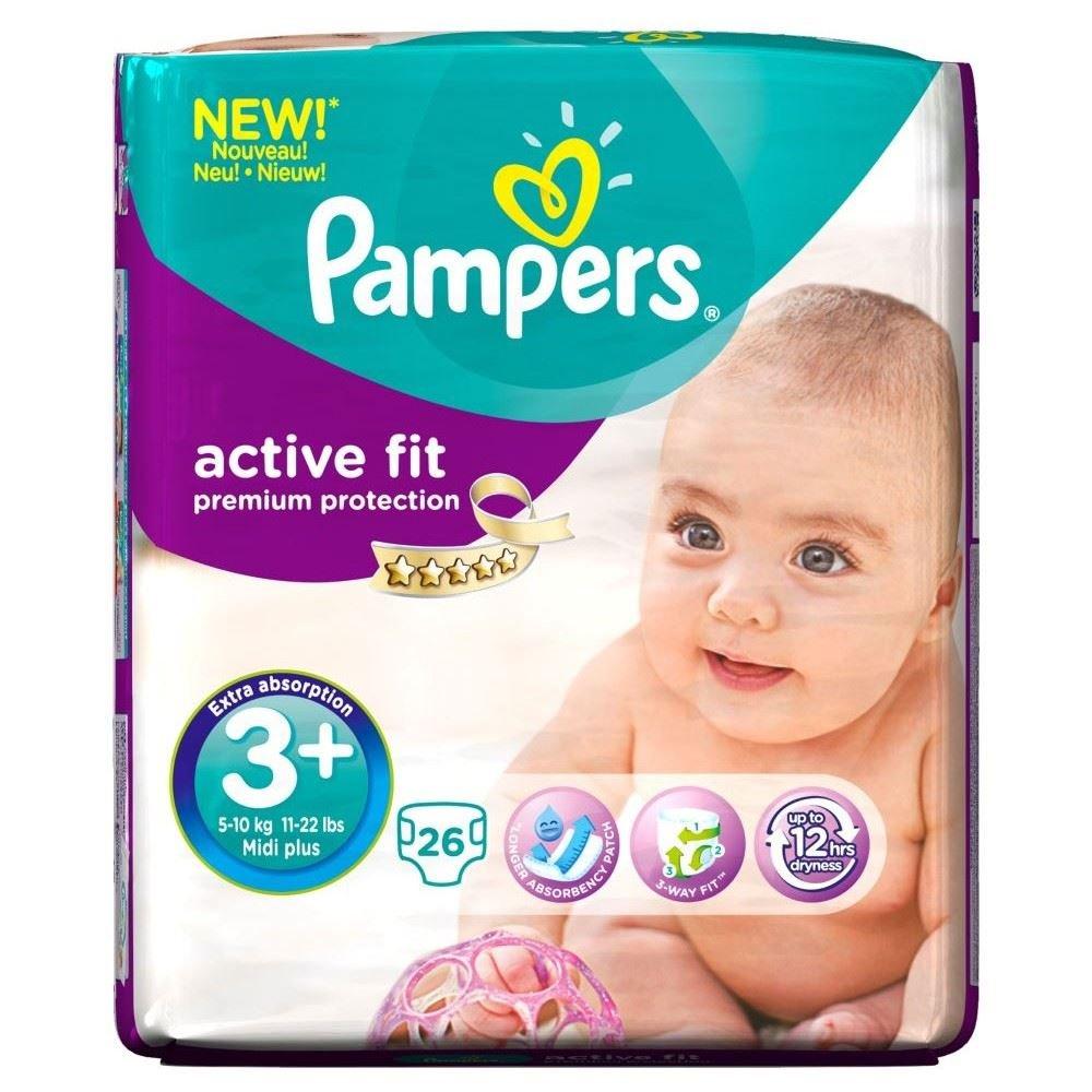 Pampers Tamaño Apto Activo 3+ Midi Y 5-10Kg (26): Amazon.es: Salud y cuidado personal