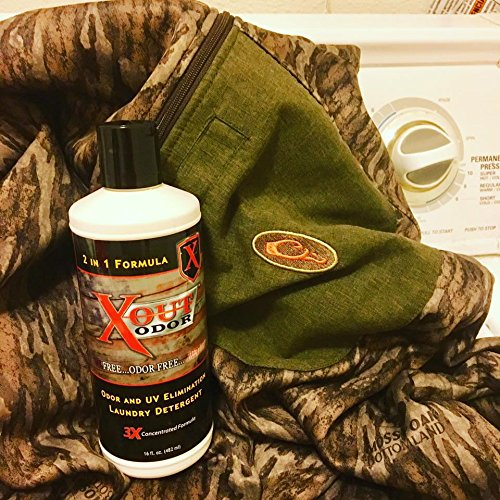 X-Out Odor Laundry Detergent - Deer Hunting Scent Control Detergent - Best 2 in 1 Hunting Product by Pure One Outdoors (Image #3)