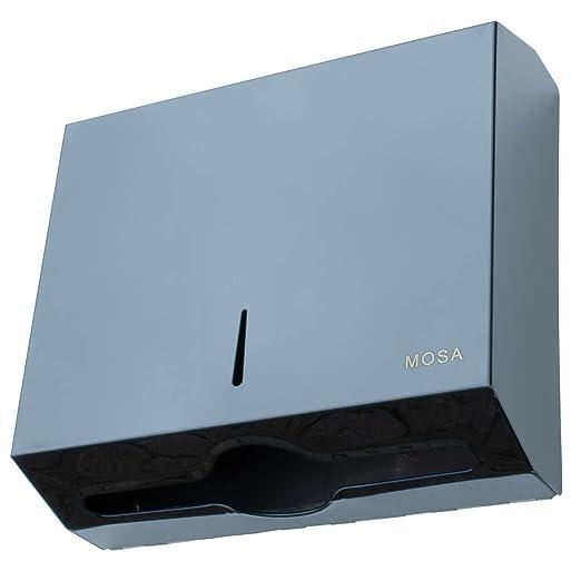 mosa Papierspender Edelstahl Handtuchspender Handtuchpapierspender abschlie/ßbar bis 400 Blatt Edelstahl 304