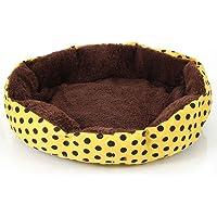 Ecloud Shop® pequeños Puntos octogonales Perrera de Terciopelo