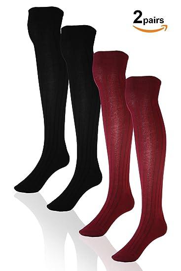 5c29c3aae Basico Women Ladies  Cotton Over Knee Socks