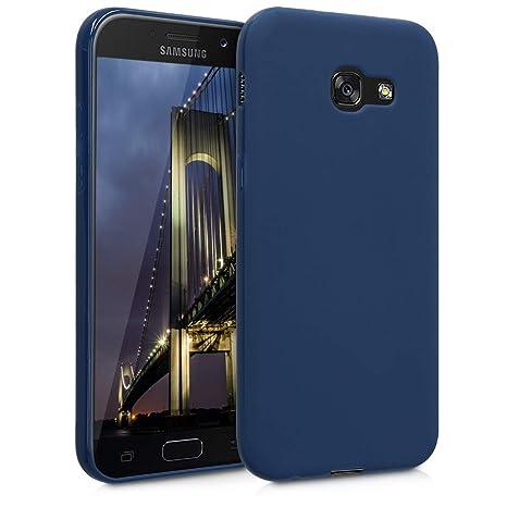 kwmobile Funda para Samsung Galaxy A5 (2017) - Carcasa para móvil en [TPU Silicona] - Protector [Trasero] en [Azul Marino]