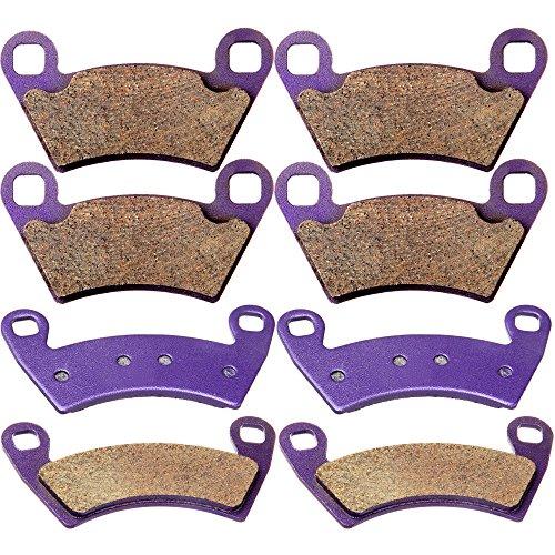 SCITOO Kevlar Carbon Fiber Brake Pads Fit for 08 09 10 11 12 13 14 Polaris Ranger 10 11 12 13 14 Polaris - Fiber Carbon 09