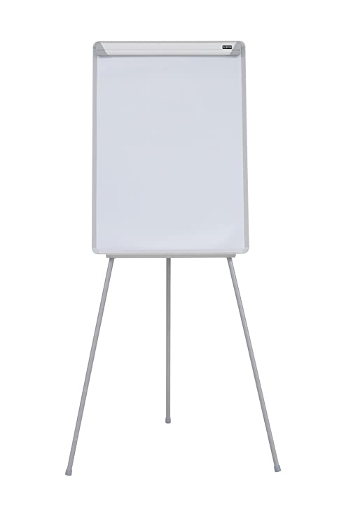 Bi-Office Easy - Pizarra Magnética con Caballete de Trípode, marco gris, 70 x 100 cm, para rotafolios