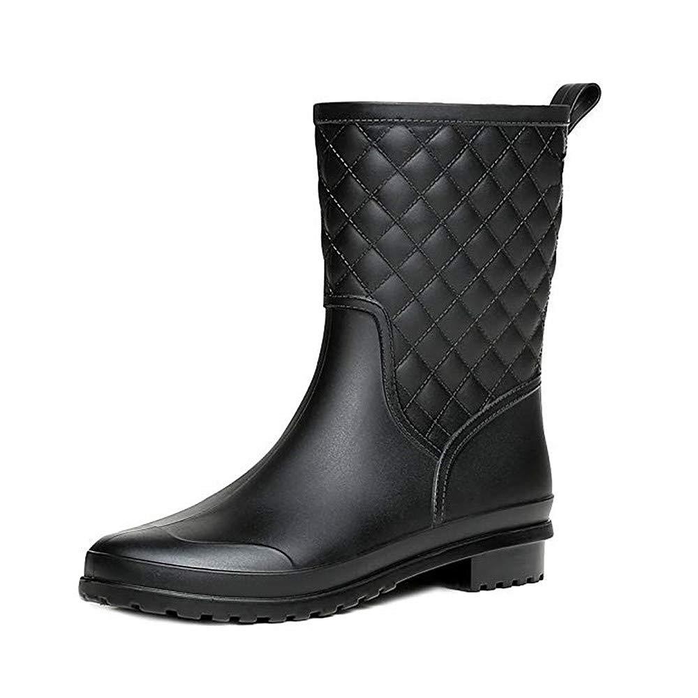 6d5809331 Bota Agua Mujer Jardín Trabajo Lluvia Botas Antideslizante Wellington Boots  Negro Caqui Azul 36-41